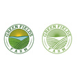 emblems of green field farm vector image vector image