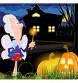 Fairy godmother near the house vector image vector image