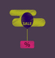 flat shading style icon sale balloon in the sky vector image vector image