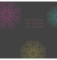 Floral abstract ornament vector image vector image