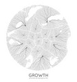generative branch growth pattern round vector image vector image