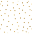 Gold shimmer glitter polka dot seamless pattern vector image vector image