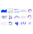 graph charts colorful diagrams statistics vector image