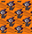 halloween seamless pattern cat in hat vector image vector image