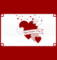 happy valentines day background red and white vector image vector image