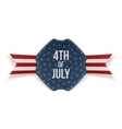 Independence Day 4th of July greeting Banner vector image vector image