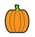 isolated halloween pumpkin vector image
