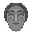 Korean mask icon gray monochrome style vector image vector image