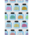 Laboratory examination brains seamless pattern in vector image vector image