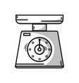 line scale weight machine kitchen utensil vector image vector image