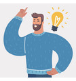 man idea concept template vector image