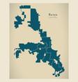 modern city map - reno nevada city of the usa vector image vector image