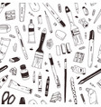 monochrome seamless pattern with school supplies vector image vector image