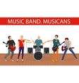 musicians music band Young vector image