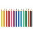 nineteen coloured pencils vector image