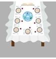 Passover dinner seder pesach table with vector image vector image
