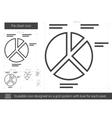 Pie chart line icon vector image vector image