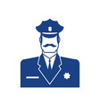 police icon policeman officer sign cop symbol vector image vector image