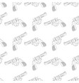 revolvers as seamless pattern vector image vector image