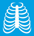 rib cage icon white vector image