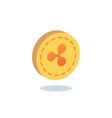 ripple coin gold coin vector image