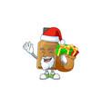 santa syrup cure bottle cartoon character design vector image vector image