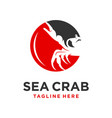 sea crab logo design template vector image vector image