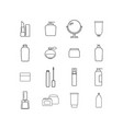 set of cream bottles online icons vector image