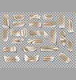 set transparent brown adhesive tape and vector image vector image