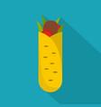 shawarma icon flat style vector image vector image
