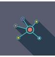Social network single icon vector image