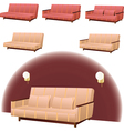 Sofa cream and red vector image vector image