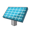 solar energy element to ecologycal care vector image vector image