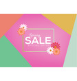 spring sale banner design abstract colorful flower vector image vector image