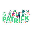 st patrick day people character festival poster vector image