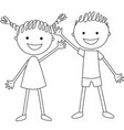 standing boy and girl vector image vector image