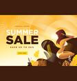 summer sale banner vector image