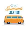 summer vacation surf bus retro surfing vintage vector image