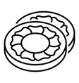 sweet biscuit icon outline style vector image vector image