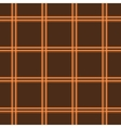 Tartan brown seamless pattern vector image vector image