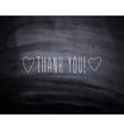Thank you hearts vector image