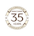 thirty five years anniversary celebration logo vector image vector image