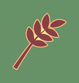 tree branch sign cordovan icon and mellow vector image vector image