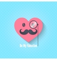 valentines day character eyeglasses background vector image vector image