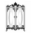 Vintage Baroque Rich Wardrobe vector image
