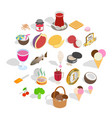 vitamin bomb icons set isometric style vector image vector image
