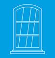 white narrow window icon outline vector image vector image