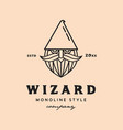 wizard face logo vector image