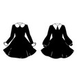 womens dresses in cute gothic style vector image