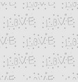 word love print pattern for fabric postcard vector image vector image